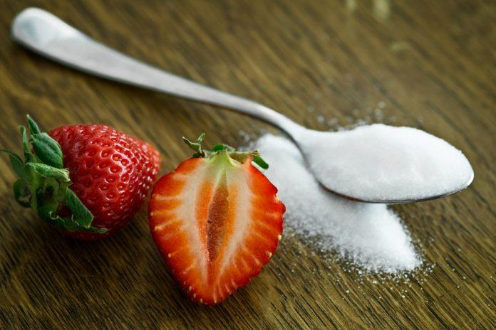 suiker en aardbei