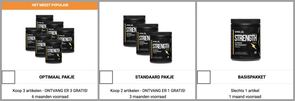 nutrigo lab strength actie